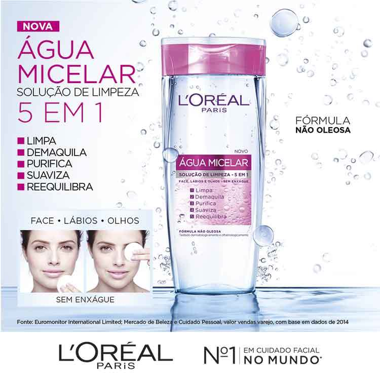 L'Oréal Paris Dermo Expertise Água Micelar 5 em 1 - Demaquilante 200ml