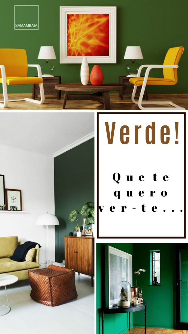 ideias Parede verde